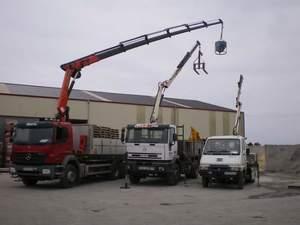 Camion Axor 2533L con Grua - Camion Iveco mp190e31 con Pluma